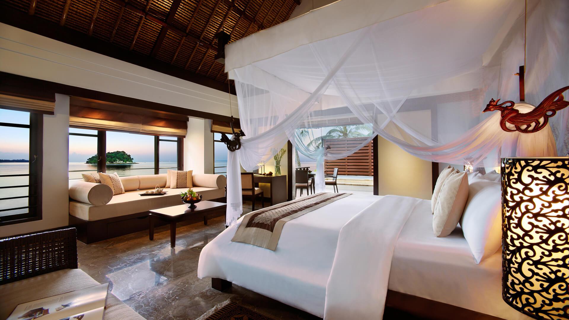 Виллы с одной спальней, с видом на море (спальня)