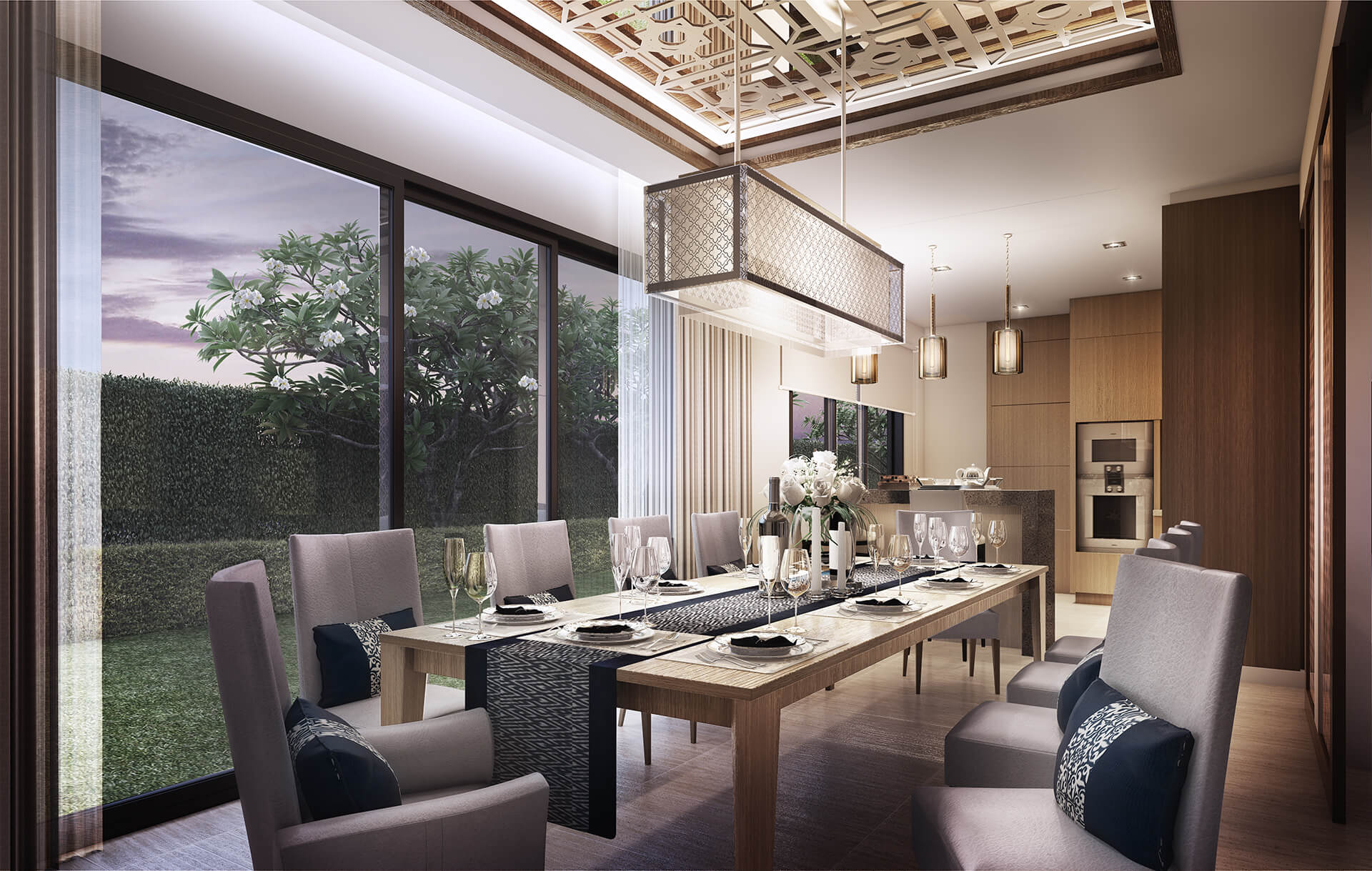 GRAND RESIDENCES (KITCHEN & DINING ROOM)