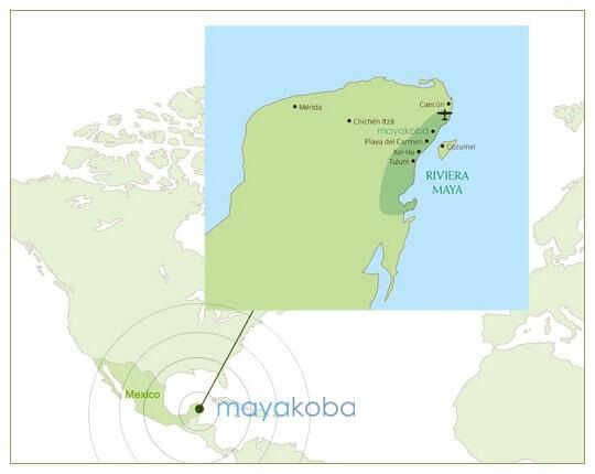 mayakoba map
