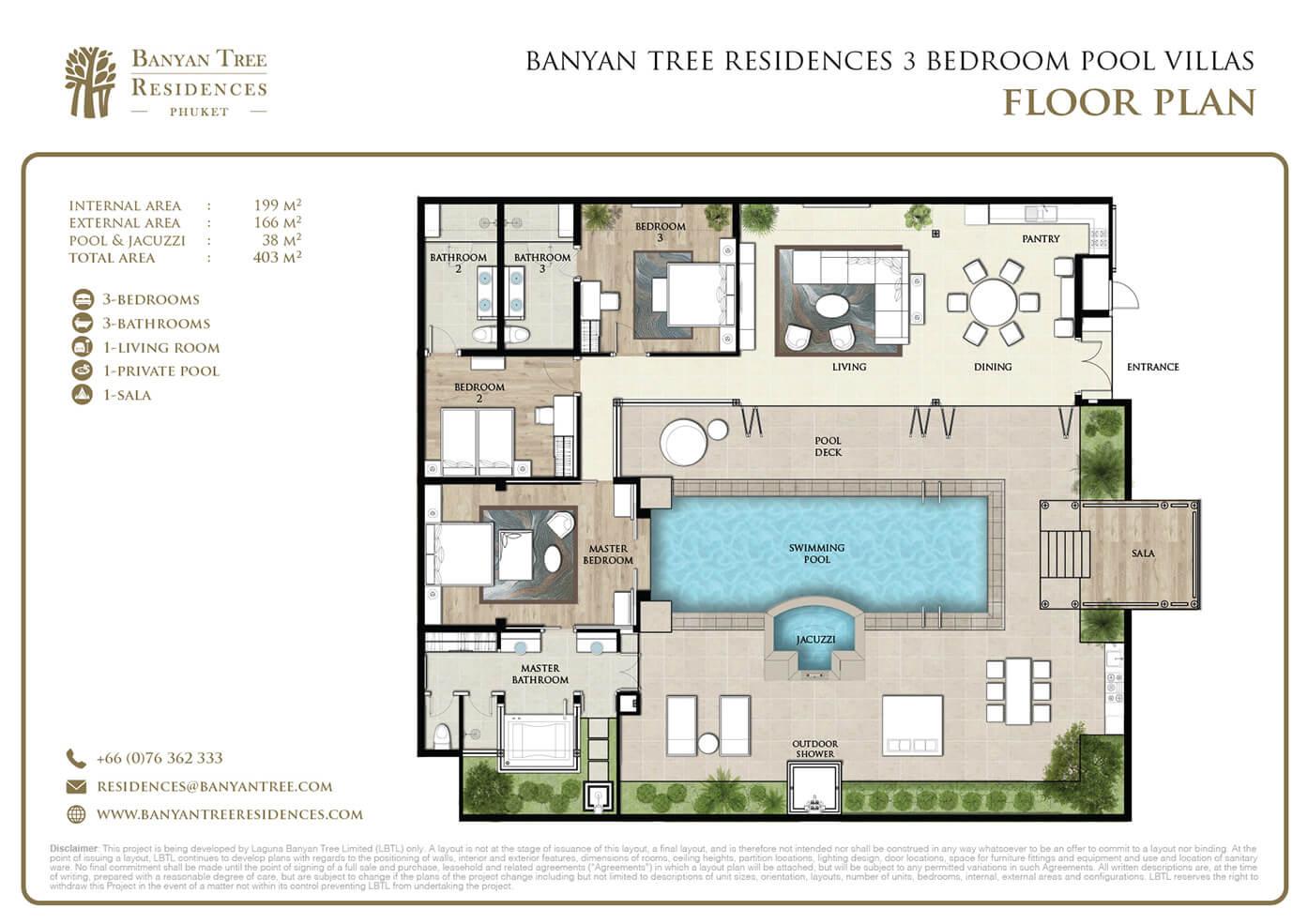Banyan tree residences for Swimming pool floor plan